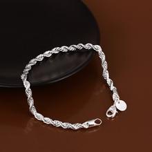 Элегантный Блестящий 925 Ювелирный Браслет унисекс, модные браслеты и браслеты для женщин, высокое качество, опт и розница