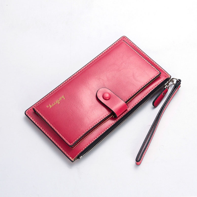 Baellerry Leather Wallet Women Zipper Long Women Wallets Purse Card Holder Big Wallet Female Clutch Bag Wristlet Wallets W083 fashion women leather wallet female long card holder big stone wallets casual clutch zipper coin purse