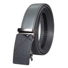New Designer Popular Luxury Brand Cowhide Leather Belt Men Black Gray Automatic Buckle Business Casual Belts For Men 3.5 Width hot sale business male black belts famous brand popular leather belt newest automatic buckle designer men black belt 2019