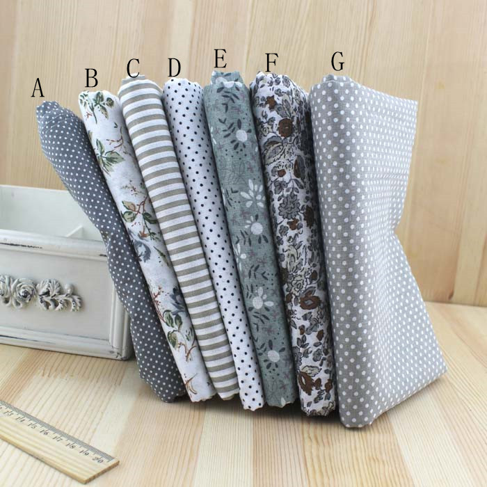 50x150cm 100% Cotton Fabric, GRAY Cotton Quilted Fabric med halv meter Stoffer for Patchwork Sying, Tissue, Cloth