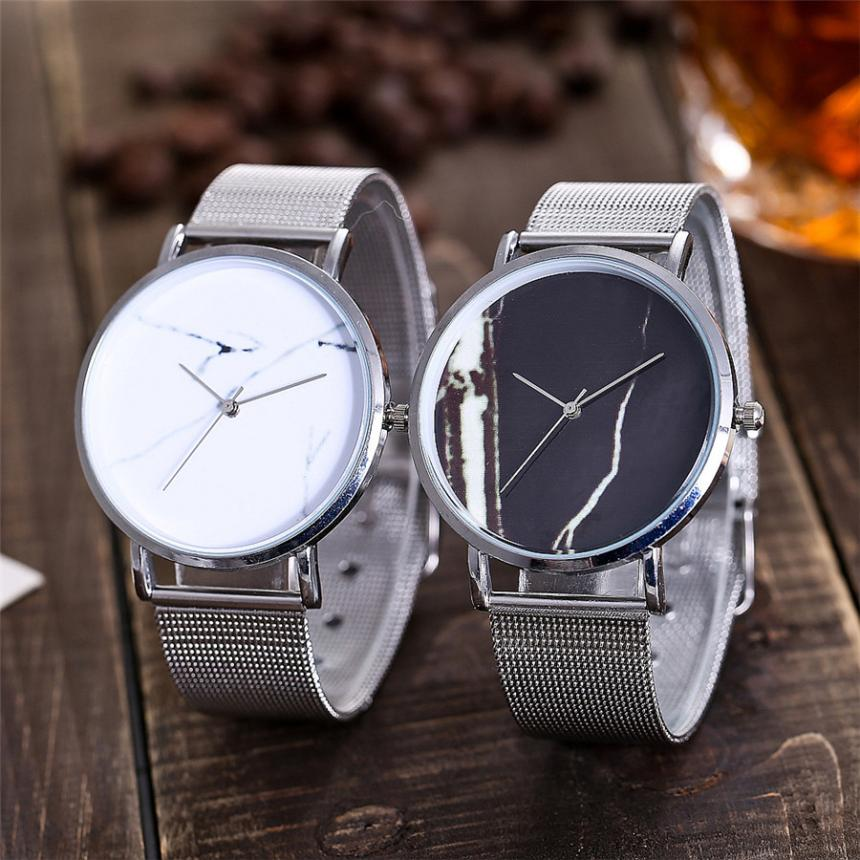 CCQ Casual Quartz Stainless Steel Band Marble Strap Watch Analog Wrist Watch women's watches of the famous luxury brand stainles new design fashion mens stainless steel band square business quartz analog wrist watches 5v8u 3y3fd