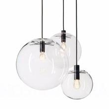 Современный скандинавский блеск, глобус, подвесные светильники, светильник для дома, декоративный стеклянный шар, подвесной светильник, сделай сам, E27, подвесная прозрачная стеклянная Подвесная лампа