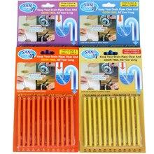 12/набор палочки Sani Sticks масло для обеззараживания кухни Слив для ванны очиститель Чистка канализации стержень удобный канализационный волос