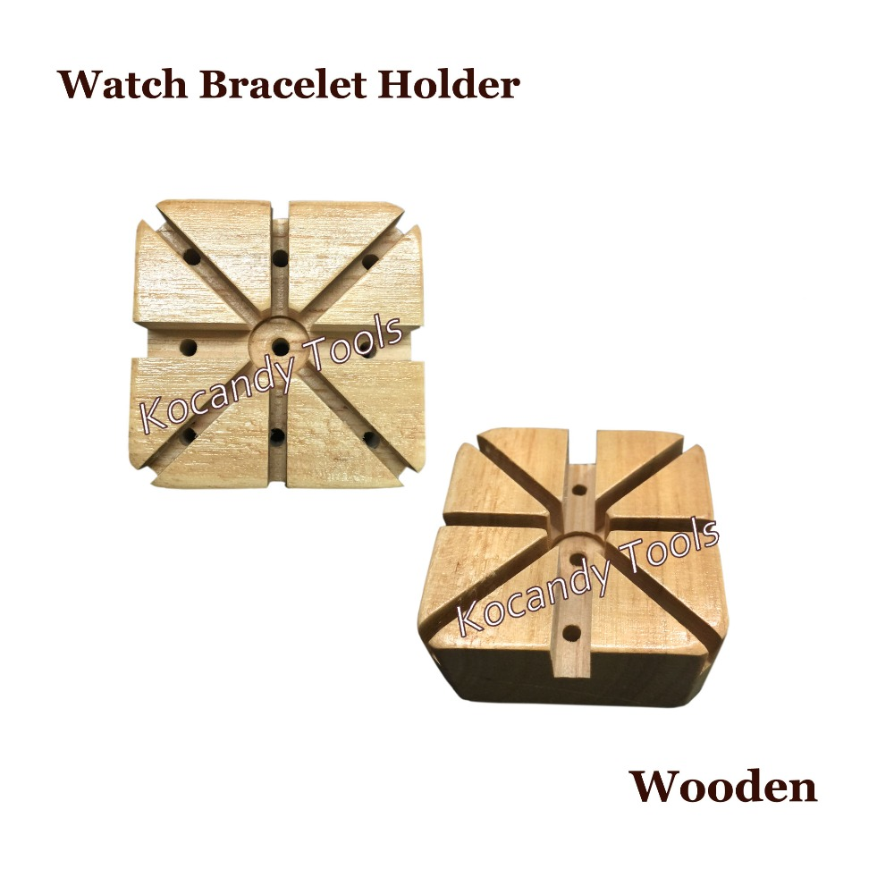 Us 4 55 Wooden Watch Band Bracelet Strap Holder Link Pins Remover Watchmaker Repair Kit Tool In Tools Kits From Watches On Aliexpress