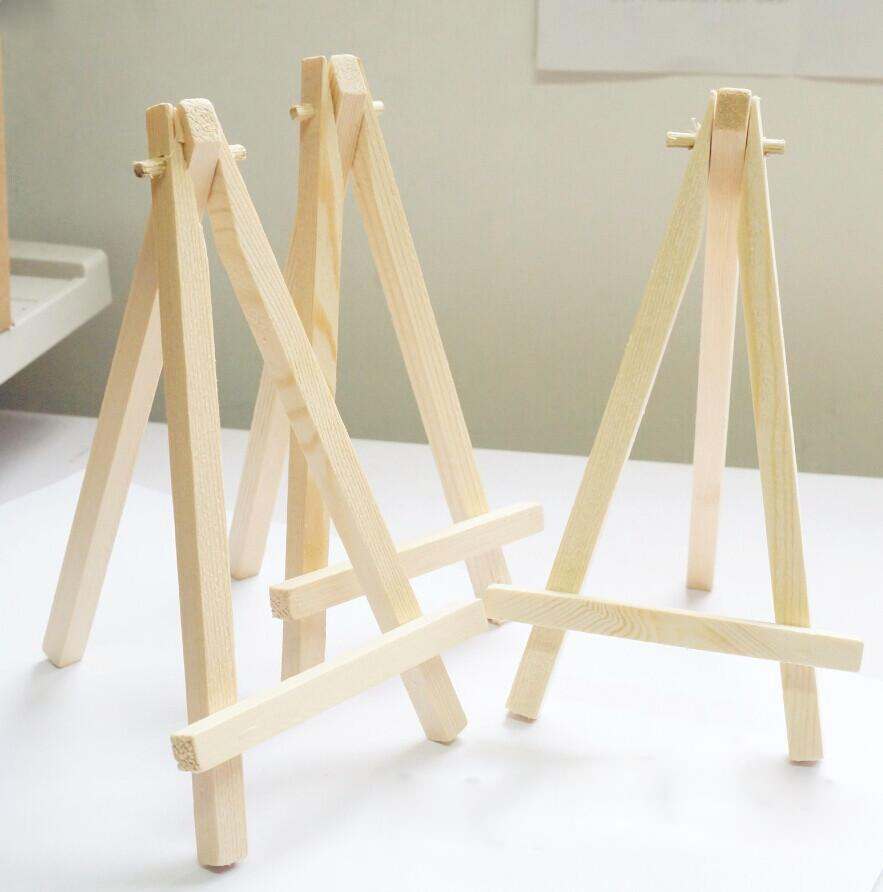 12PC Vintage Mini Display Miniature Easel Wooden Place Card Name Holder Table Number for Wedding Event Party Valentine Day
