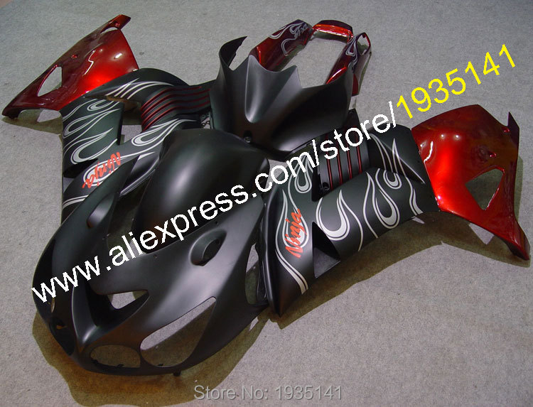 Hot sales,for kawasaki ninja zx14r 2006-2011 cowling zzr 1400 zx-14r asb fashion fairings 06 07 08 09
