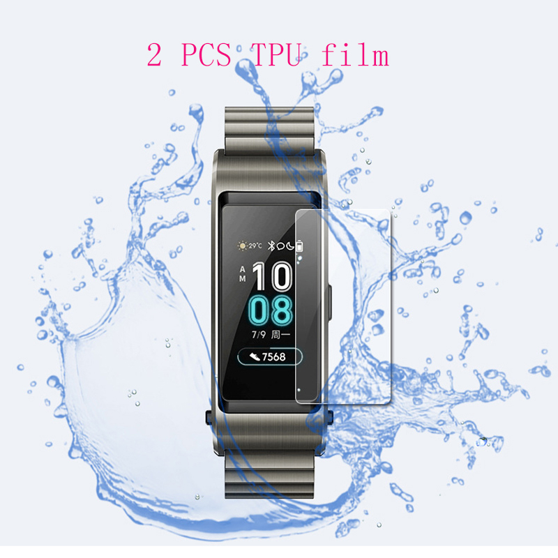 Screen Protectors Home Electronic Accessories Honey 2 Pcs Soft Ultra For Huawei Talkband Talk Band B5 Wristband Smart Watch Full Cover Soft Tpu Explosion-proof Screen Protector Diversified In Packaging