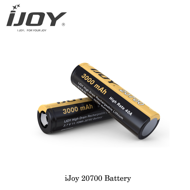 Authentic IJOY 20700 3.7V 3000mAh Rechargeable Battery 20700 40AMP Battery for IJoy 20700 Mech and Regulated Mods Vaporizer Vape