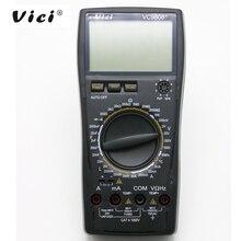 VICI VC9808 + 3 1/2 multímetro Digital medidor eléctrico inductancia resistencia Cap frecuencia temperatura AC/DC ohmímetro de 20A