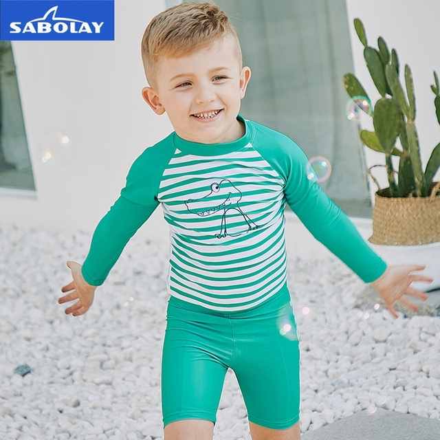 a5aa91bac7e46 SABOLAY Children's Long Sleeved Quick dry summer UV Protection Swimwear  Beach Surfing Kids Swim Suit Swimsuit Sunscreen UPF 50+