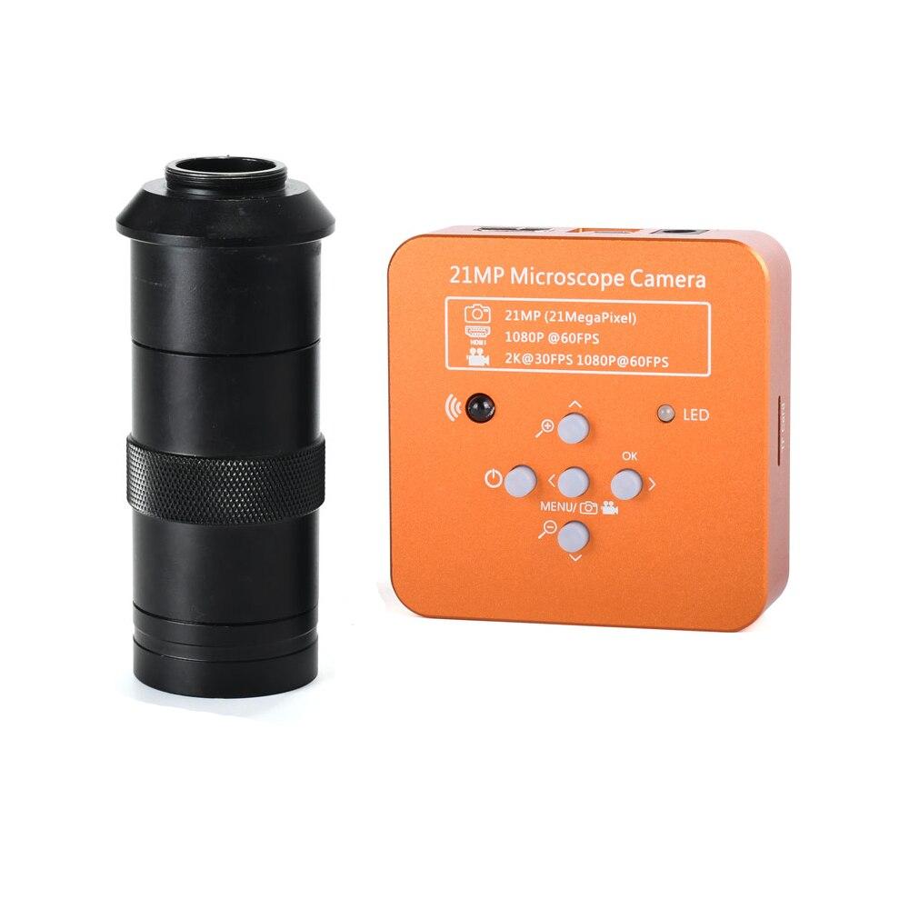 21MP 2 K 1080 P 60FPS HDMI USB Industrielle Numérique Vidéo Caméra Microscope mikroskop kamera Loupe pour Téléphone PCB THT à souder