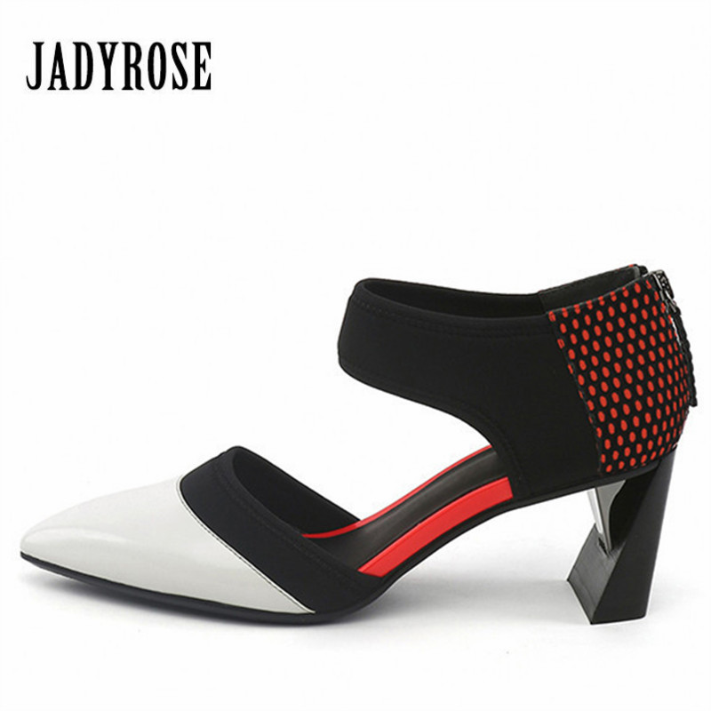 Jady Rose British Pointed Toe Women Pumps Strange Heel Wedding Dress Shoes Woman Back Zip High Heels Valentine Shoes Stiletto zip back fit and flared plaid dress