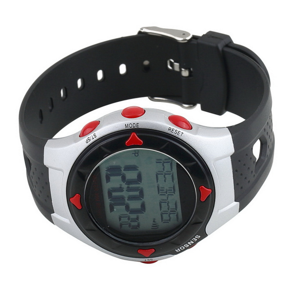 Waterproof Pulse Heart Rate Monitor Stop Watch Calories Counter Sports Fitness