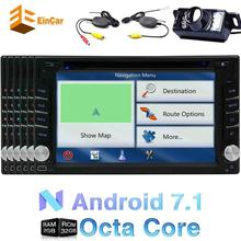 Wireless camera Android 7.1 car GPS radio 2 DIN audio device capacitive touch screen output WiFi 4G/3G DVR Bluetooth cam-in OBD2