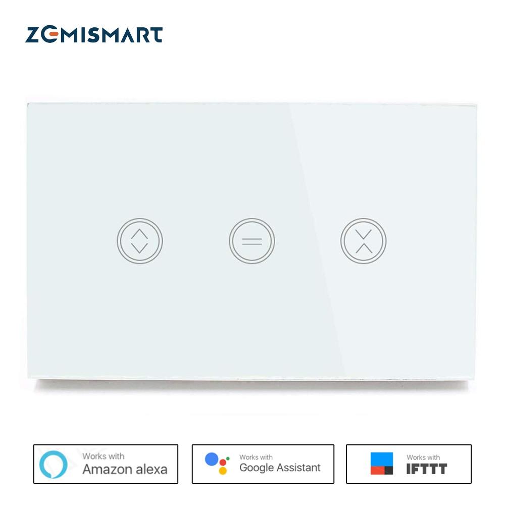 Zemismart US Wifi Curtain Switch WiFi APP Voice Control By Siri Alexa Google Home For Rolling Shutter Slide Garage