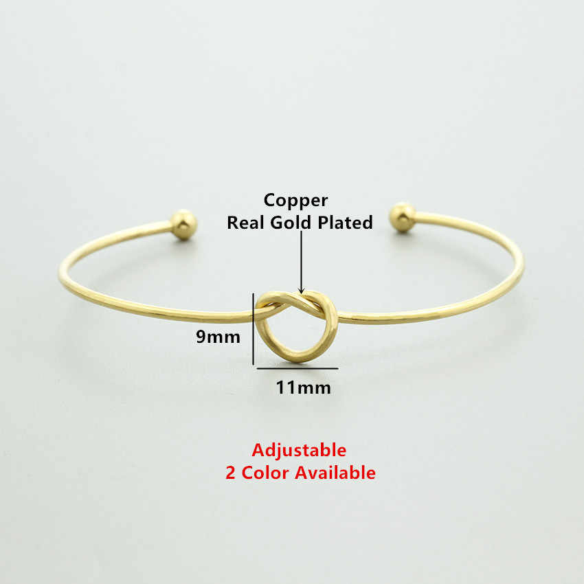 V Attract Valentine's Gift Vintage Heart Knot Bracelets & Bangles Women Statement Jewlery Rose Gold Viking Bangles Femme 2018