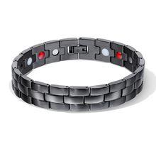 Модные высококачественные мужские браслеты с магнитами для здоровья