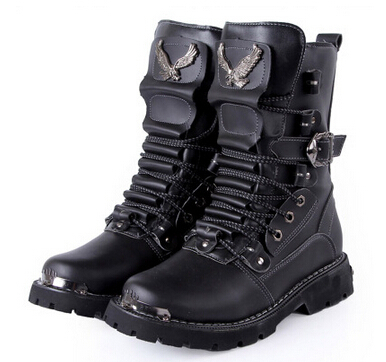 2014 winter men snow boots steel toe waterproof black lace up boots mens  leather boots motorcycle men designer shoes 72 cda91449bf17