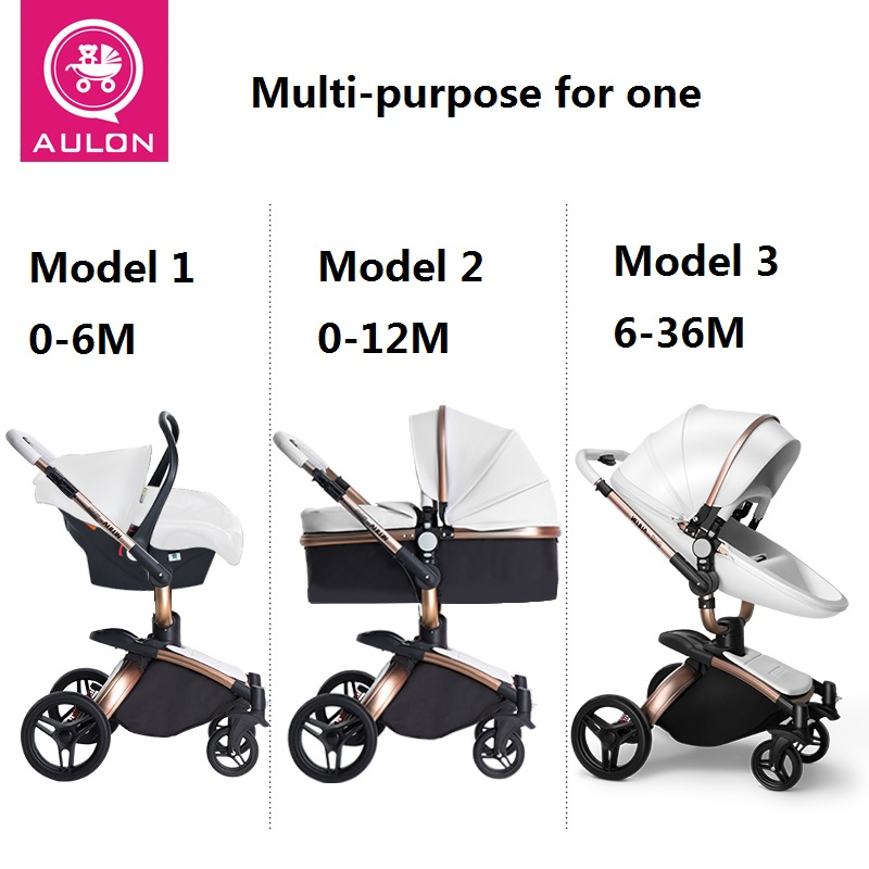 Top SaleLuxury Baby Stroller Carriage Aulon Fashion High-Land-Scape 3-In-1 European-Design