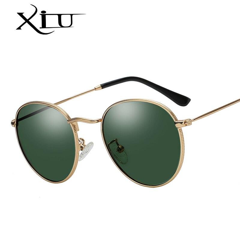 XIU Round Polarized Sunglasses Oculos Vintage Retro Brand Design Outdoor Fashion Women