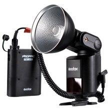 Godox Witstro AD-360 AD360 High Power External Portable Flash Light Speedlite + PB960 Battery Power Pack Black