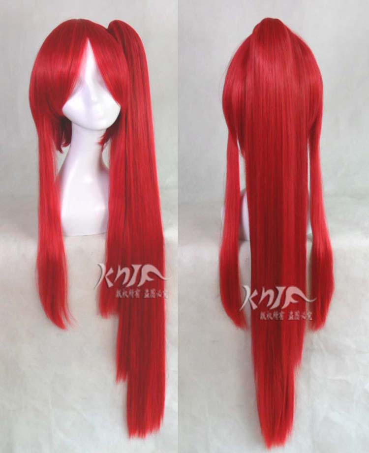 Top quality Pandora Hearts hair jewelry 330g 100cm synthetic hair accessories for Erza Scarlet cosplay wigs top quality 2014 charming medium hairstyle mix color capless synthetic hair wigs