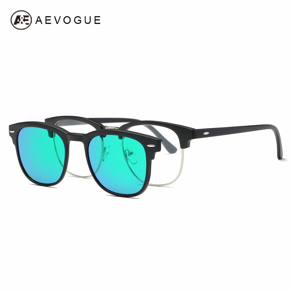 aevogue magnetic clip polarized sunglasses womens plastic titanium tr90 frame unisex optiacal myopia glasses