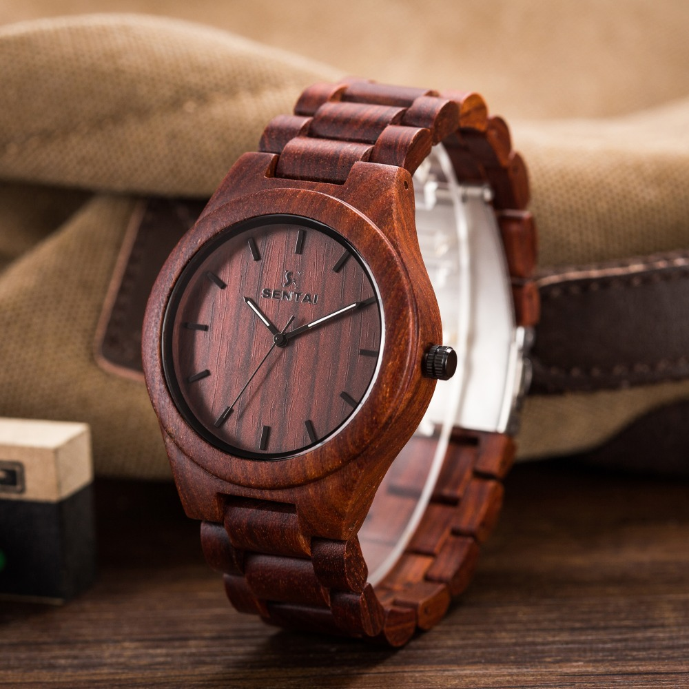 Fashion Men's Natural Wooden Wristwatch Wood Watch Quartz with Date With Sandal Strap Casual Watch Men Watch Relogio Masculino fashion wooden watch relojes men watches casual vintage retro stylish wood wristwatch men black wood watch relogio masculino