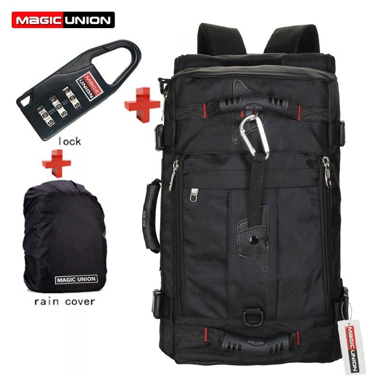 Laptop Backpack Travel-Bags Magic Union Brand Man's Luggage Mochila Masculina Lock--Cover
