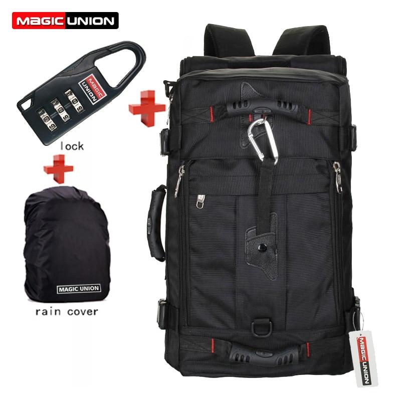 Serrure de marque MAGIC UNION + couverture + sac sac à dos pour ordinateur portable hommes Mochila Masculina sacs à dos homme bagages et sacs de voyage pour hommes