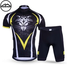 MEIKROO Short Sleeve Cycling Jersey Maillot Bicycle Wear Summer Style Bike Clothing Ropa Ciclismo MTB Racing 3D Pad Shorts F4