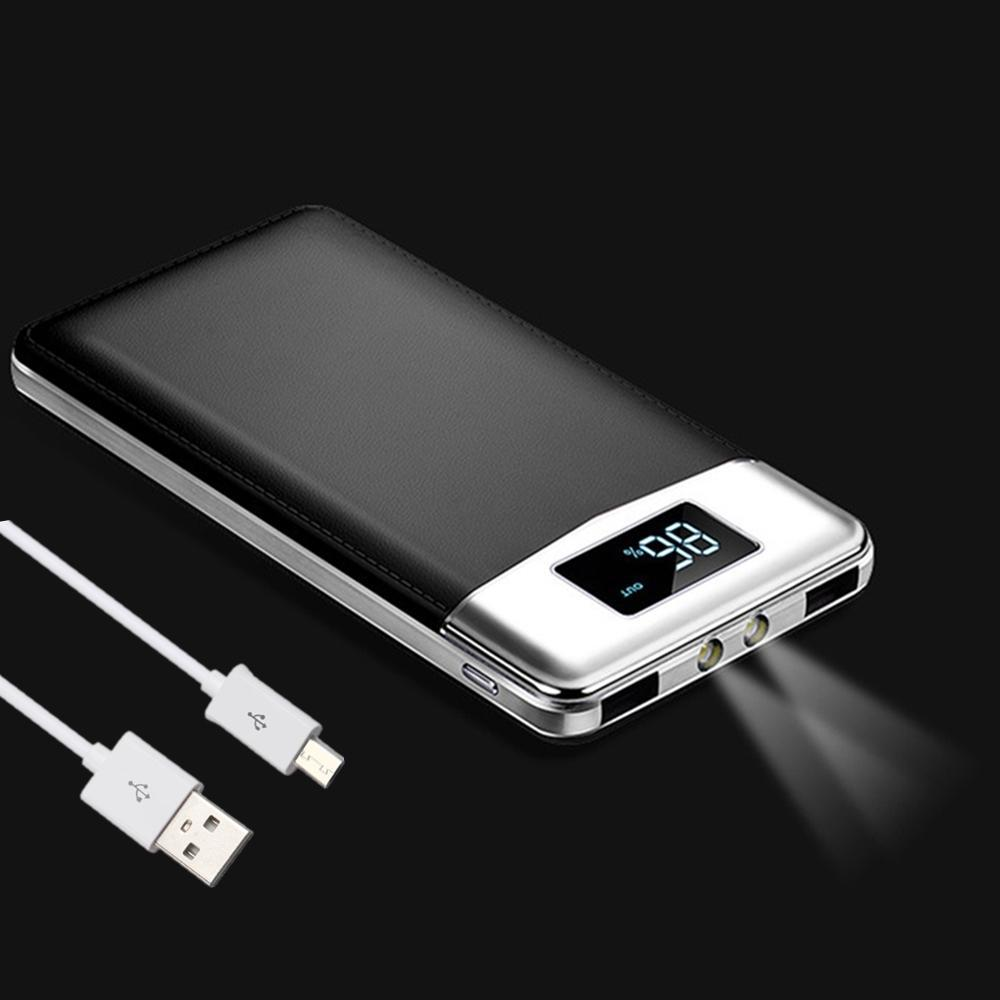 Cargador móvil USB externo 18650 banco de batería de teléfono Dual pover 20000 mAh energía para cargar banco de energía portátil