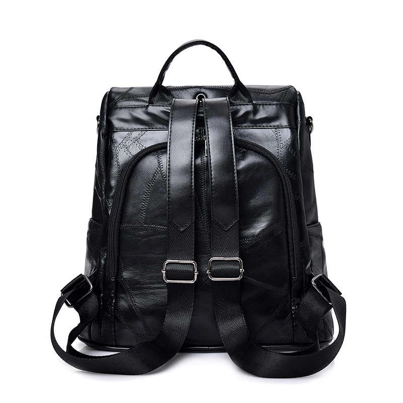 Piękny niedźwiedź tassel plecak styl preppy dla kobiet podróży kieszeń na telefon komórkowy kobiet torba z prawdziwej skóry przed kradzieżą