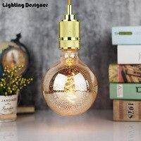 G125 led edison bulb spiral dimmable light Leopard print amber retro saving lamp vintage filament bubble ball bulb E27 led light