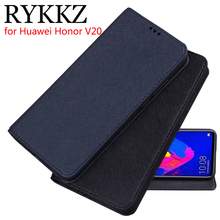 RYKKZ Luxury Leather Flip Cover For Huawei Honor V20 Mobile Stand Case PCT-AL10 Phone 6.3