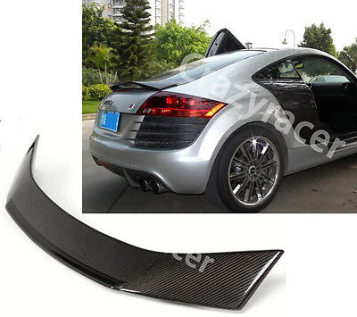 trunk lip spoiler wing for audi tt 8j 08 13 c style carbon. Black Bedroom Furniture Sets. Home Design Ideas