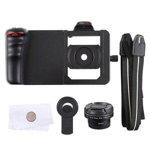 Image 4 - Universal 6.0 Smartphone Stabilizer Rig Grip Professional 0.45X Super Wide Angle Macro Lens Phone Video Steadicam Holder Mount