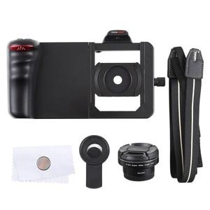 Image 4 - Universel 6.0 Smartphone stabilisateur plate forme poignée professionnel 0.45X Super grand Angle Macro objectif téléphone vidéo steeryam monture pour support