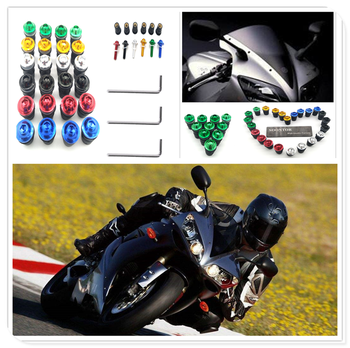10PCS red Motorcycle Screw Kit BOLTS Windscreen Windshield Bolt Screws for SUZUKI GSXR1000 GSXR600 Kawasaki NINJA 650R ER6F image
