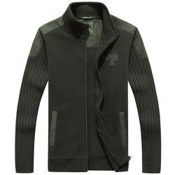 Высококачественный свитер в стиле милитари с воротником-стойкой, новый дизайнерский плотный флисовый внутренний кардиган, сохраняющий теп...