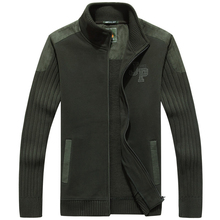 AFS Jeep High Quality Stand Collar Military Sweater,New Design Thick Fleece Inner Cardigan Keep Warmly Knitted Under wear стоимость
