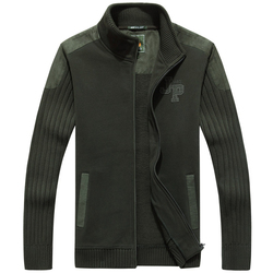 Suéter militar de cuello alto AFS Jeep de alta calidad, nuevo diseño de lana gruesa Rebeca interior mantener tejido cálido bajo el desgaste