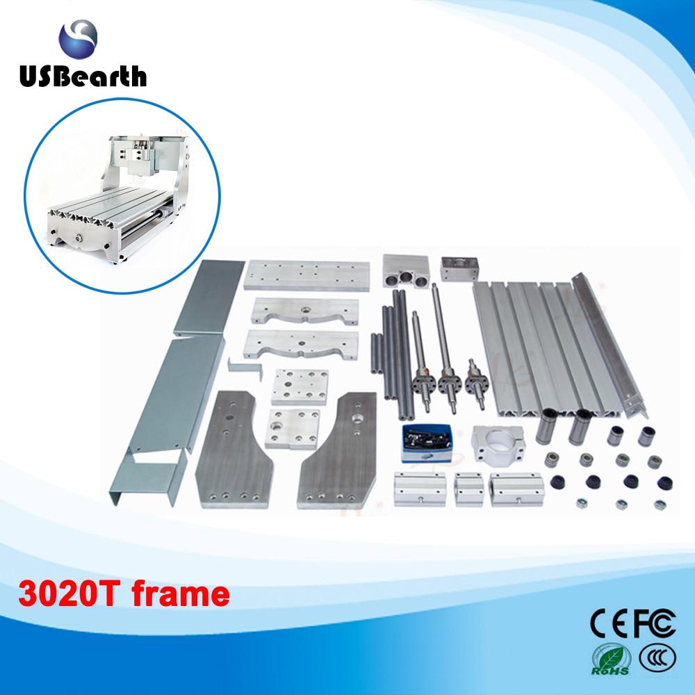 DIY mini CNC router frame 3020T, trapezoidal screw engraving machine parts, Free tax to EU mini cnc router diy 6090 frame for 6090 engraving machine cnc frame to russia free tax
