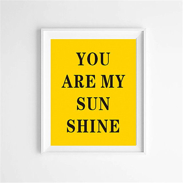 Cotill You Are My Sunshine Canvas Art Print Poster Home Decor Yellow Wall Pictures For Living