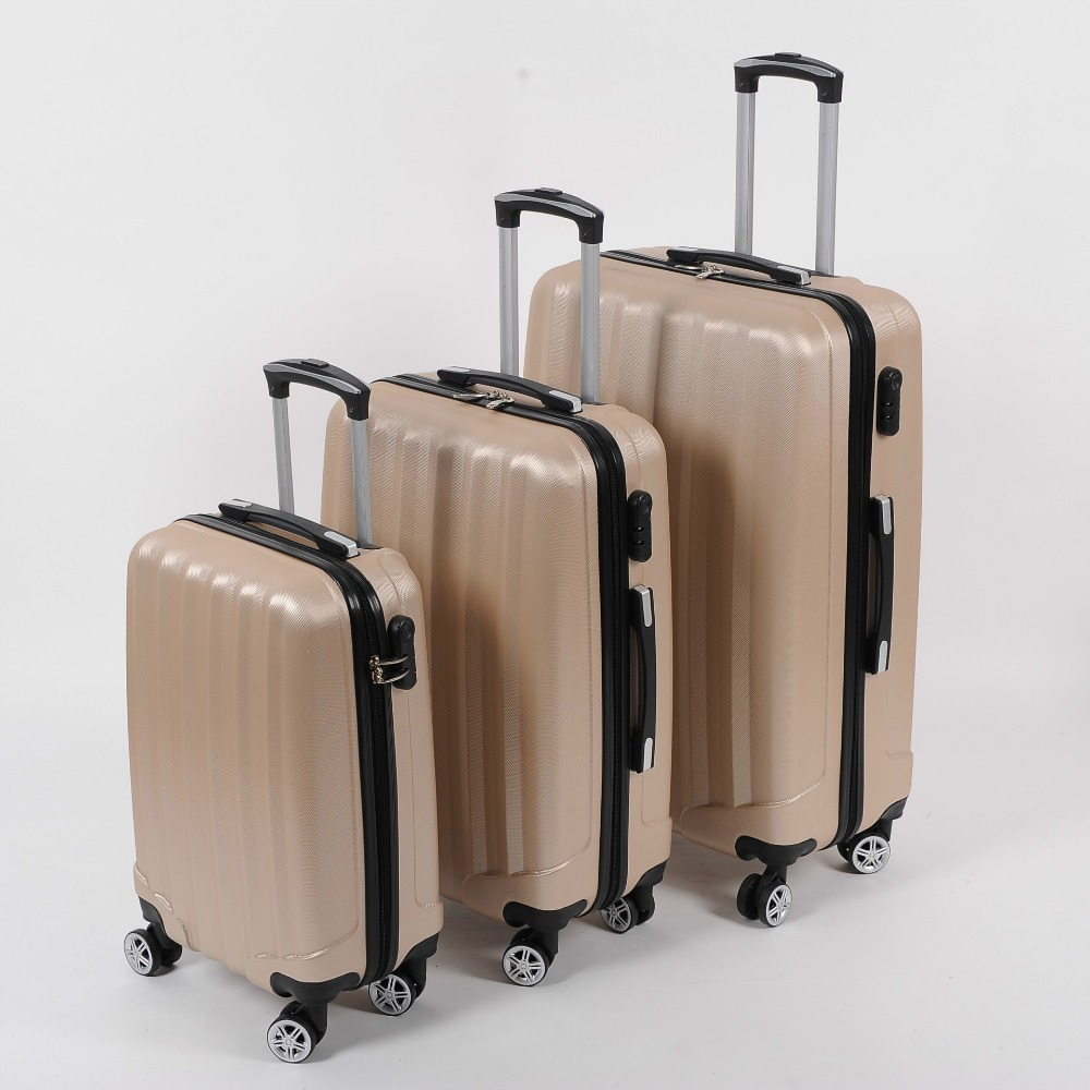 20/24/28 inch new khaki universal wheel rolling suitcase fashion ABS zipper combination lock luggage luggage 101