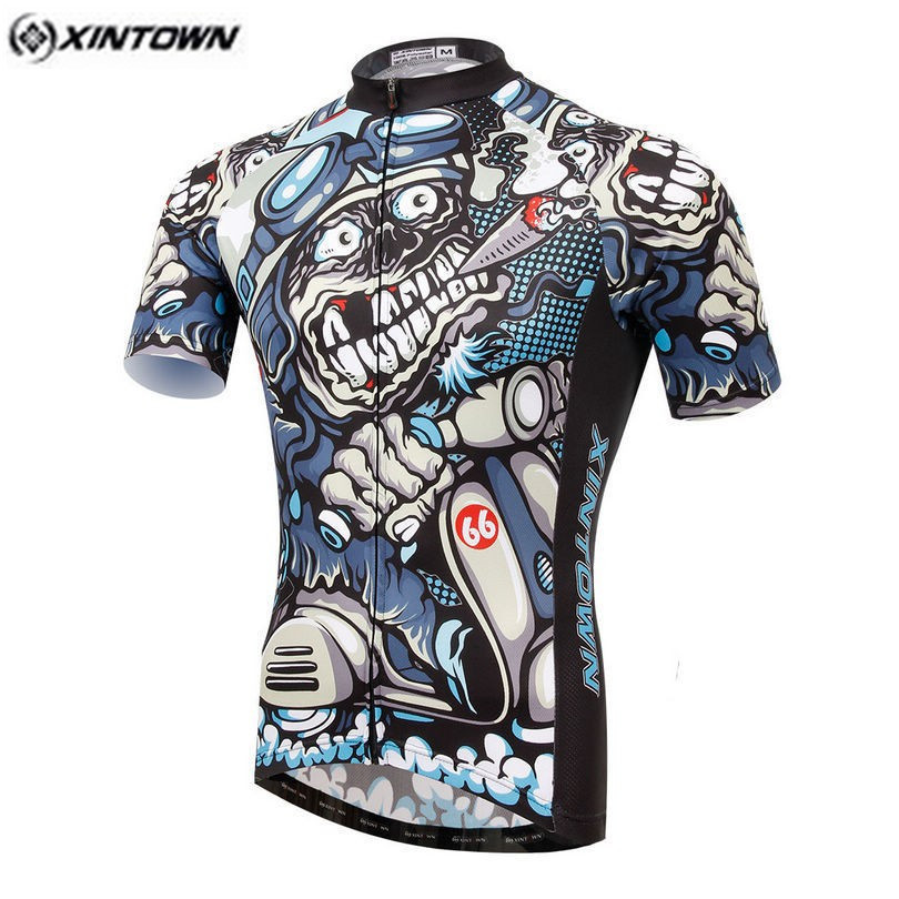 Prix pour Nouveau XINTOWN Équipe MenCycling Maillots de Cyclisme vêtements vélo jersey Animal Vélo jersey à manches courtes bike wear CC0369
