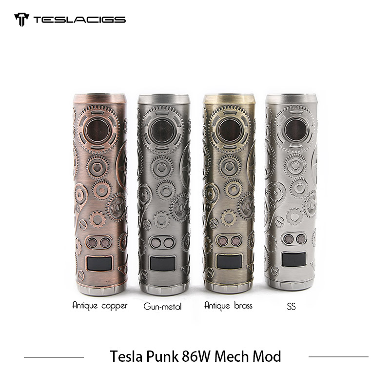 E Cigarette Tesla Punk 86 w Mech Mod Teslacigs Max 86 w Mécanique Mod Unique 18650 Vaporisateur Cigarette Électronique Mod VS Vgod Mech Mod - 2