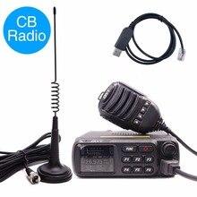 QYT CB 27 CB radyo 26.965 27.405MHz AM/FM 12/24V 4 watt LCD ekran Shortware Citizen Band USB programlama + anten seti