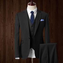 New Men's suits Arrival Groom Tuxedos Custom Made Man Suit Fashion Groomsman Suit Slim Homecoming Suit(Jacket+pants+vest)
