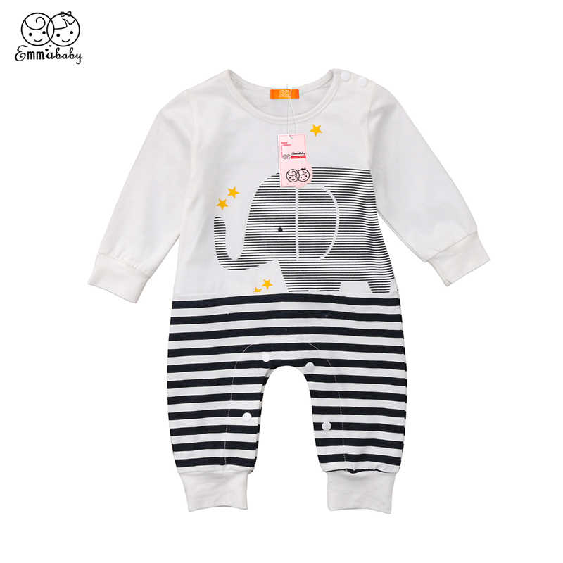 635a654a76315 Emmababy 2018 cotton Baby Rompers animal style infant Boy rompers Jumpsuit  elephant baby wear girl Rompers